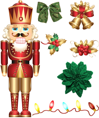 Nutcracker soldier with ornaments