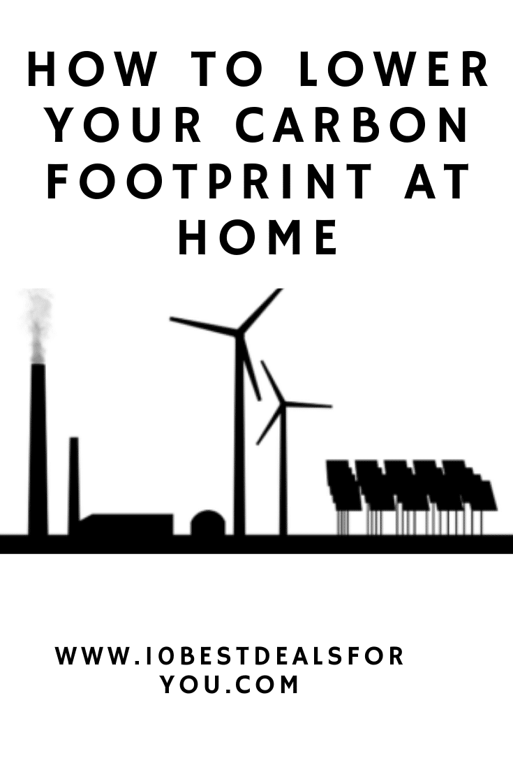 how to lower your carbon footprint at home